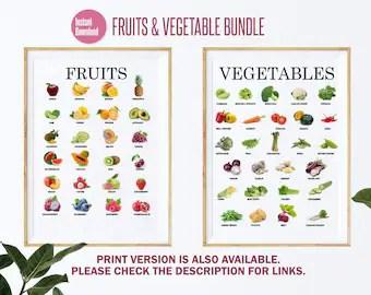 vegetable poster etsy