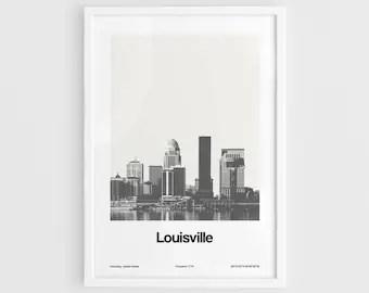 louisville poster etsy