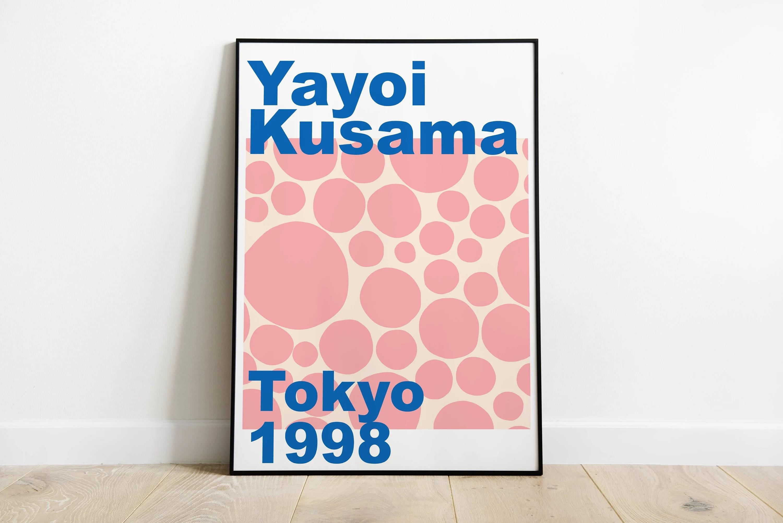 yayoi kusama exhibition poster printable wall art print kusama exhibition print digital download illustration modern art print