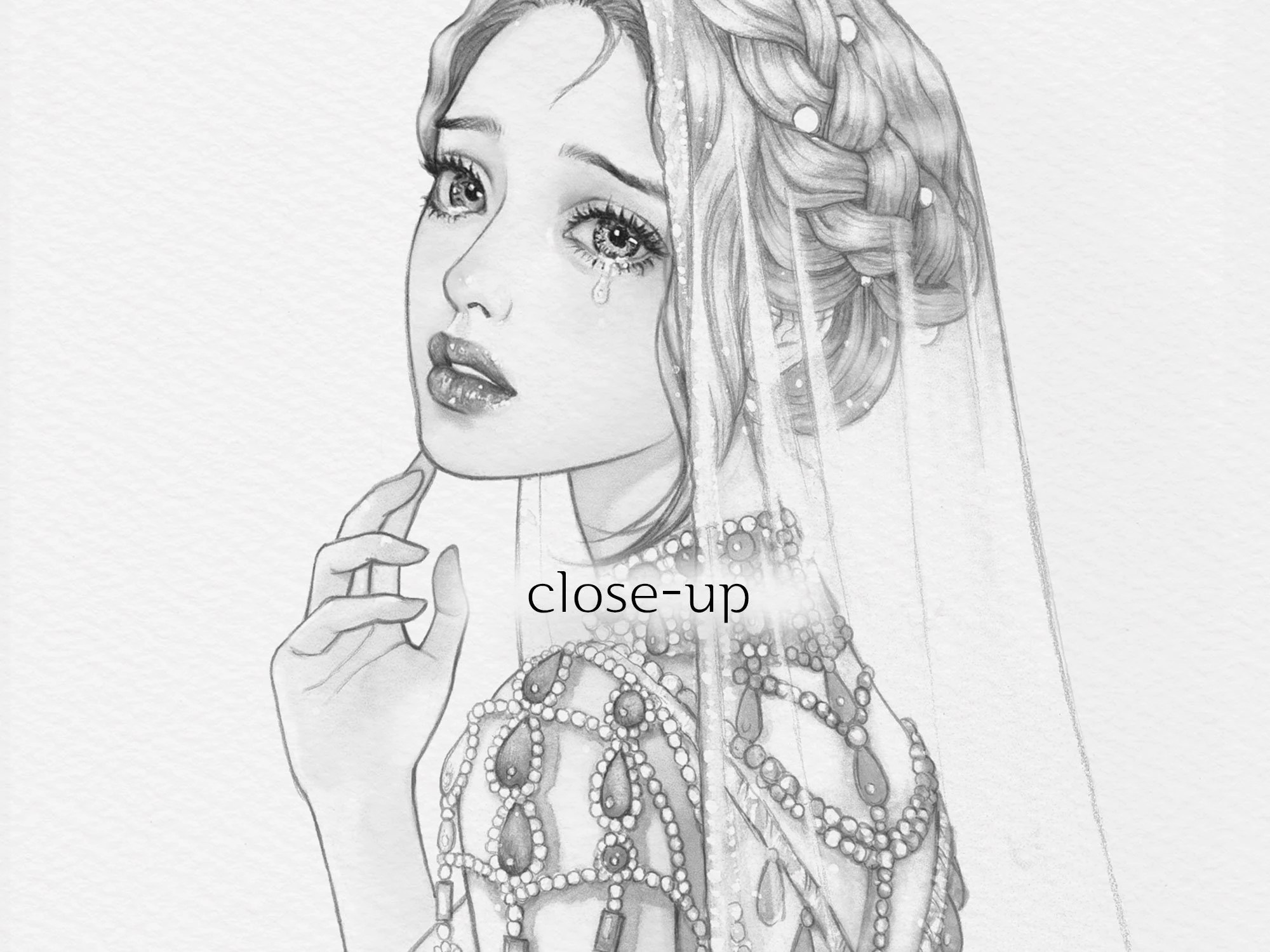 MARIA/ Coloring Page PDF for Adults Grayscale Coloring A4