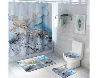 bathroom sets shower curtain etsy