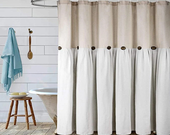 farmhouse shower curtain etsy