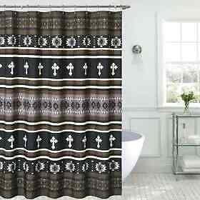 western shower curtain etsy