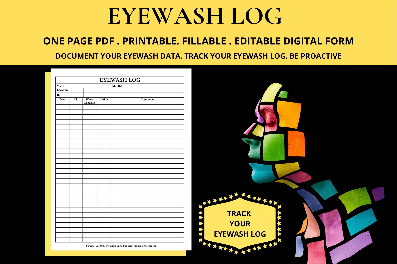 General laboratory maintenance and calibration log appendix o. Eye Wash Station Inspection Log Sheet Checklist Weekly Etsy