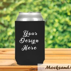 Can Cooler Mock Up Etsy