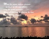 Digital Download - Sunset with Scripture Series (P4T5) - Psalm 72:17