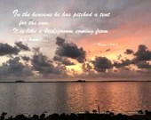 Digital Download - Sunset with Scripture Series (P4T2) - Psalm 19:4-5