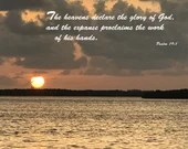 Digital Download - Sunset with Scripture Series (P2T1) - Psalm 19:1