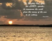 Digital Download - Sunset with Scripture Series (P2T4) - Psalm 50:1