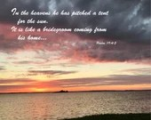 Digital Download - Sunset with Scripture Series (P7T2) - Psalm 19:4-5