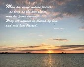 Digital Download - Sunset with Scripture Series (P5T5) - Psalm 72:17