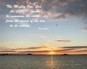 Digital Download - Sunset with Scripture Series (P5T3) - Psalm 50:1