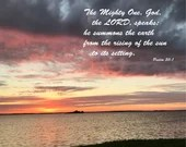 Digital Download - Sunset with Scripture Series (P7T4) - Psalm 50:1