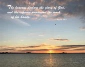 Digital Download - Sunset with Scripture Series (P5T1) - Psalm 19:1