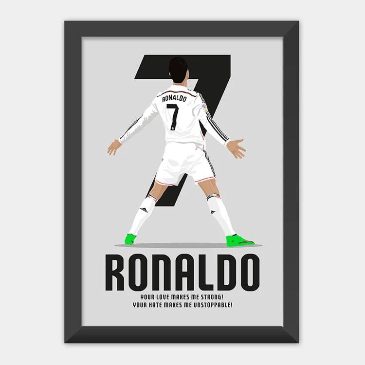 cristiano ronaldo real madrid poster print art