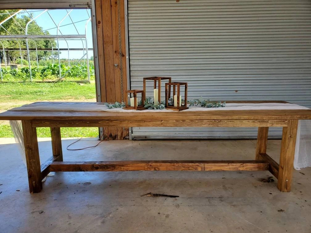 rustic outdoor table etsy