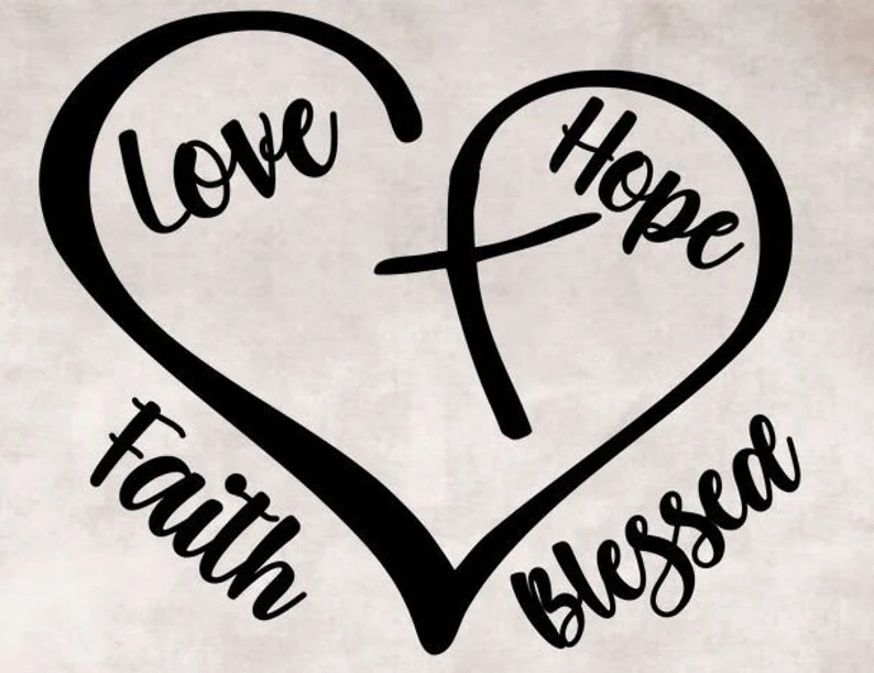 Download Heart with cross faith blessed love and hope svg png eps ...
