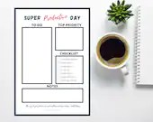 Super Productive Day Printable