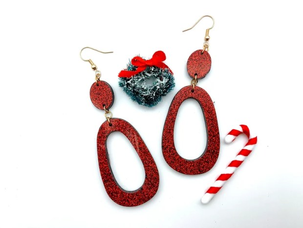 Holiday Red Dangles image 0