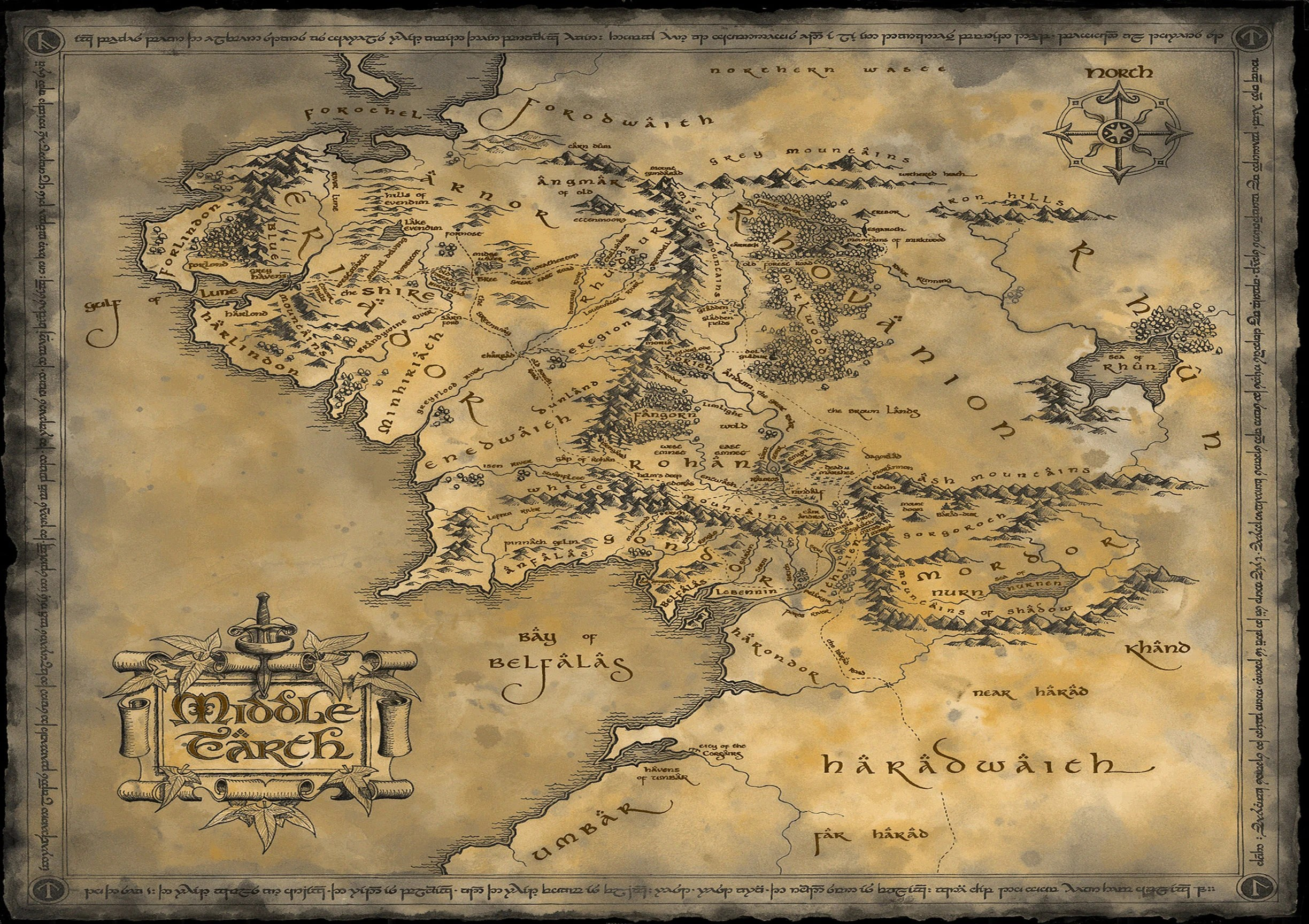 middle earth map etsy