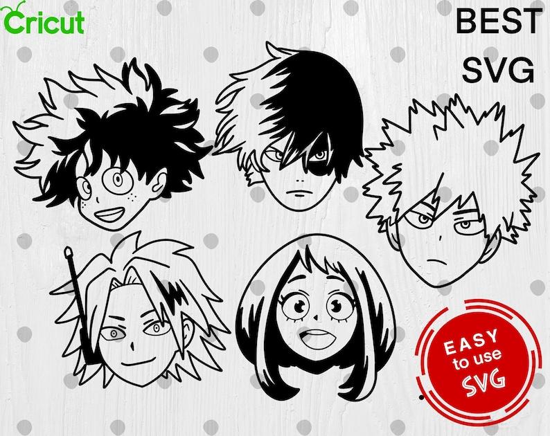 Download Bundle My Hero Academia SVG Cricut svg Silhouette Cut File ...