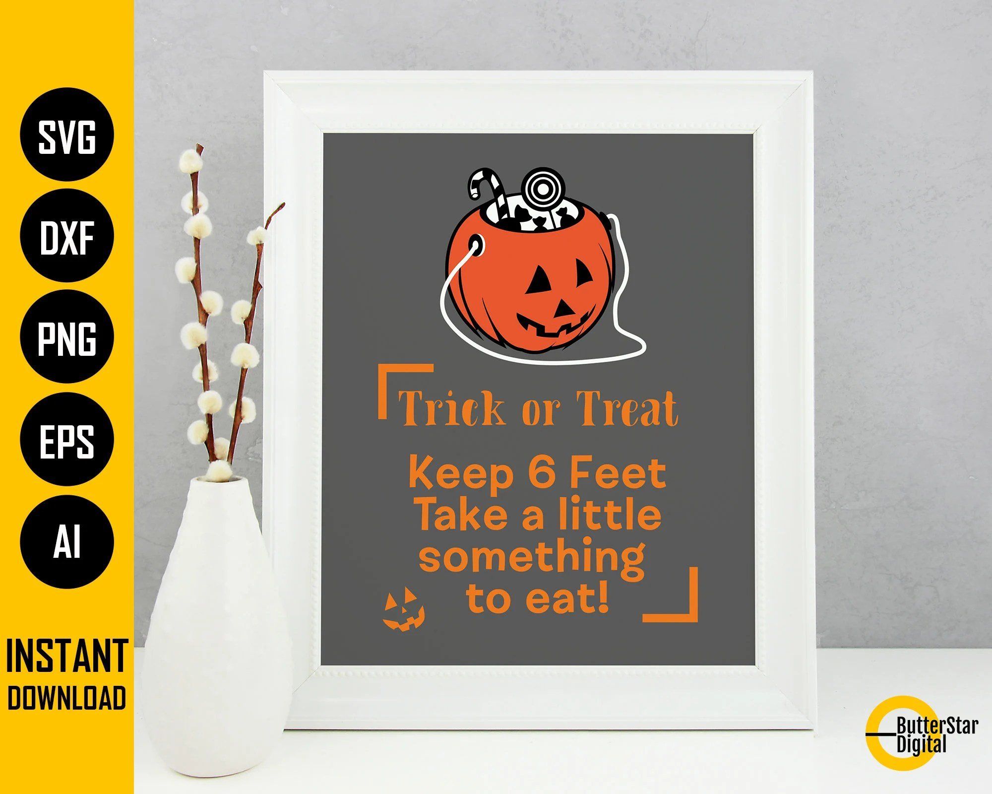 While we receive compensation when you click links to partners, they do not influence our content. Trick Or Treat Keep 6 Feet SVG 2021 Halloween Quarantine   Etsy