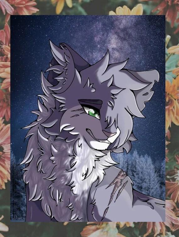 warrior cats poster nadelschweif needletail 20x30cm matt schattenclan fanartikel deko kunstdruck