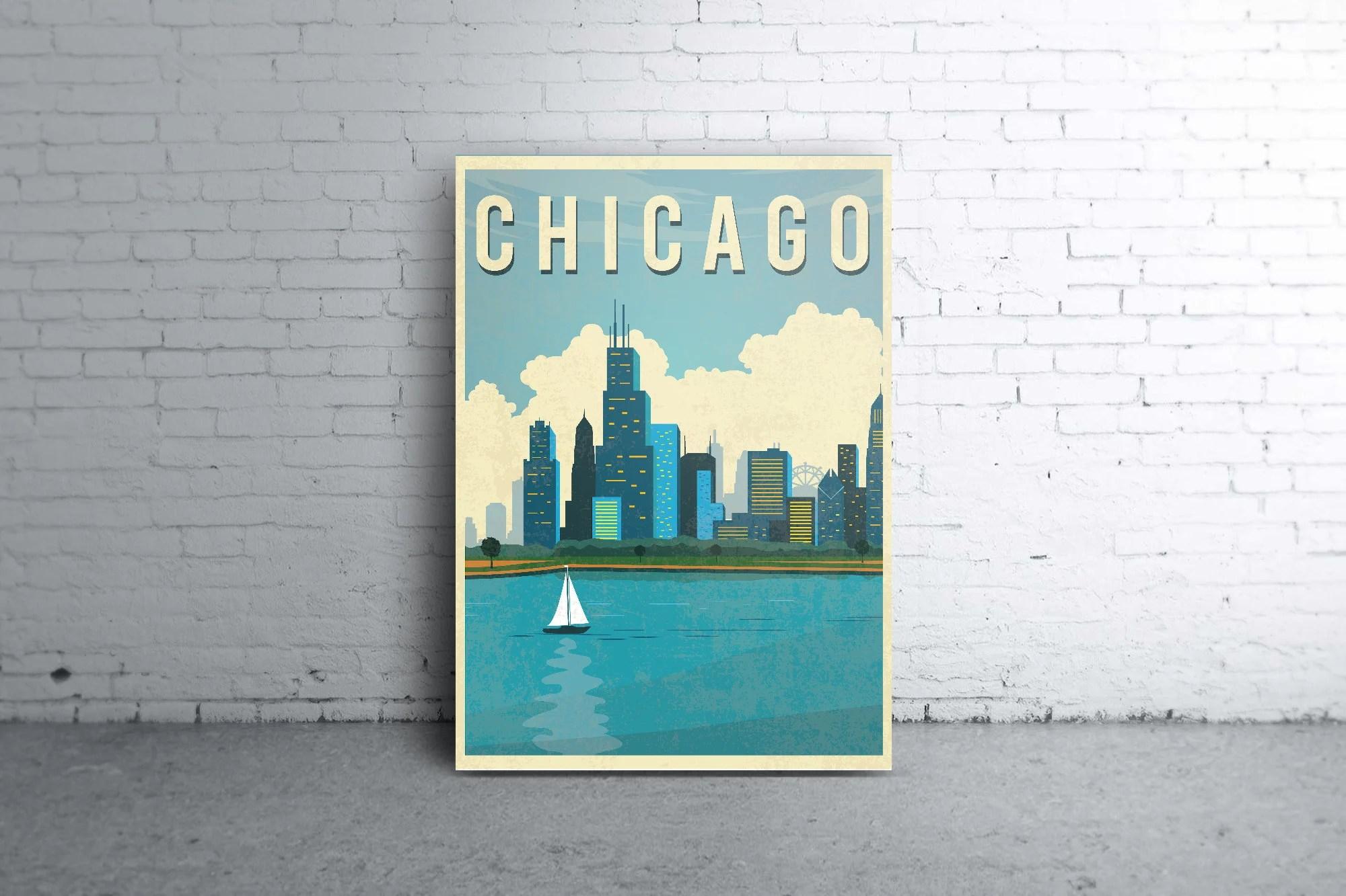 chicago poster etsy