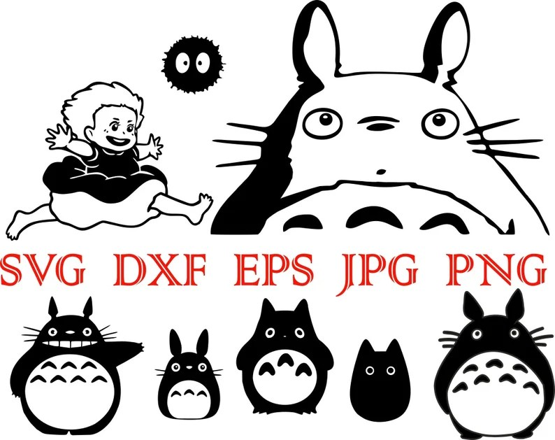 Download My Neighbour Totoro svg Studio Ghibli svg Totoro png Anime ...