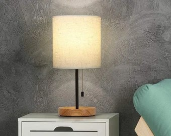 Bedside Table Lamp Etsy