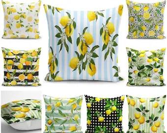 lemon cushion etsy