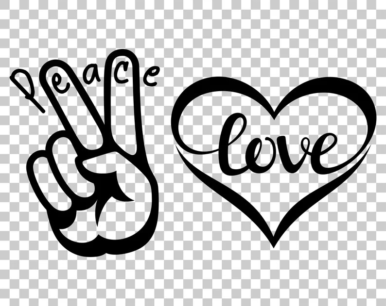Download Peace Love template SVG Hand Peace Sign SVG Peace Sign ...