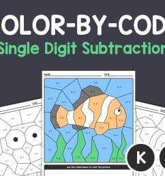 Single Digit Subtraction Worksheets Kindergarten 1st Grade   Etsy [ 2280 x 2850 Pixel ]