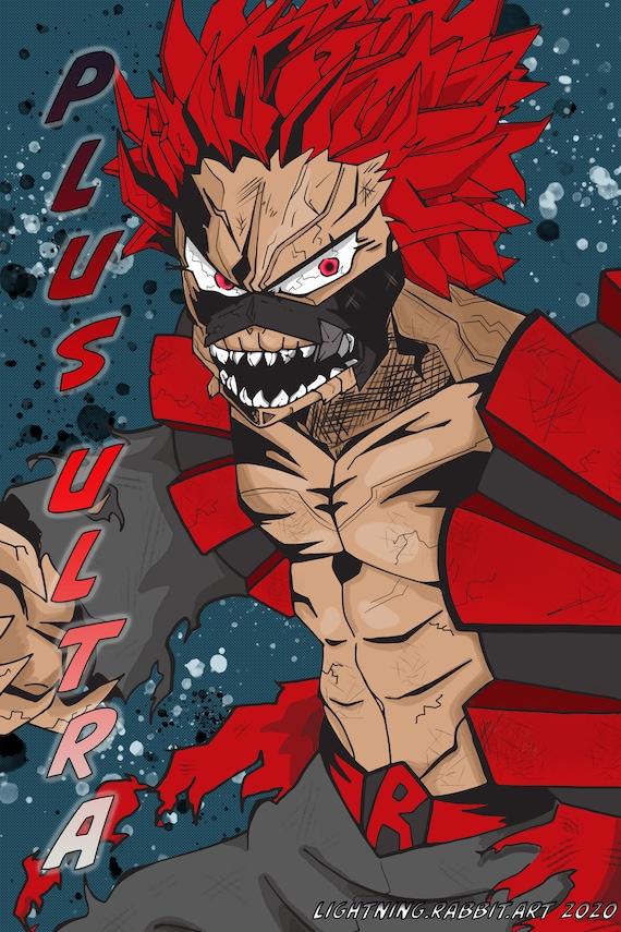 My Hero Academia Red Riot : academia, Unbreakable, Anime, Print, Academia, Kirishima