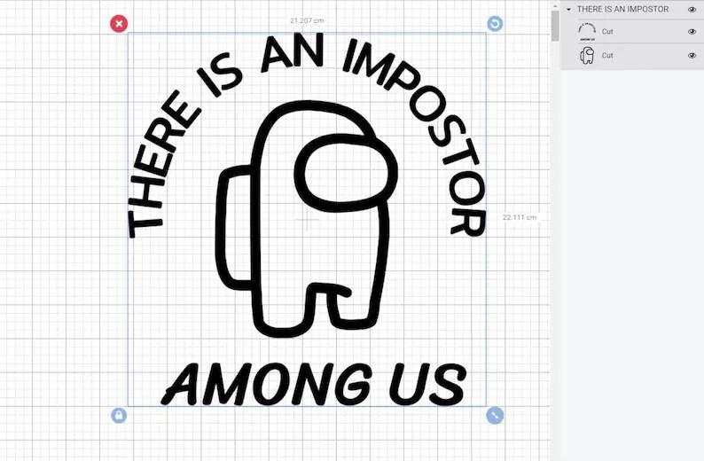 Download Among Us SVG impostor svg among us cut file   Etsy