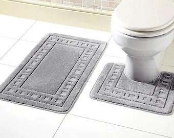Bathroom Rug Set Etsy