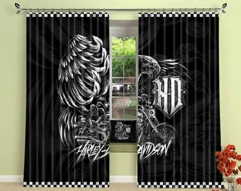 motorcycle curtain etsy