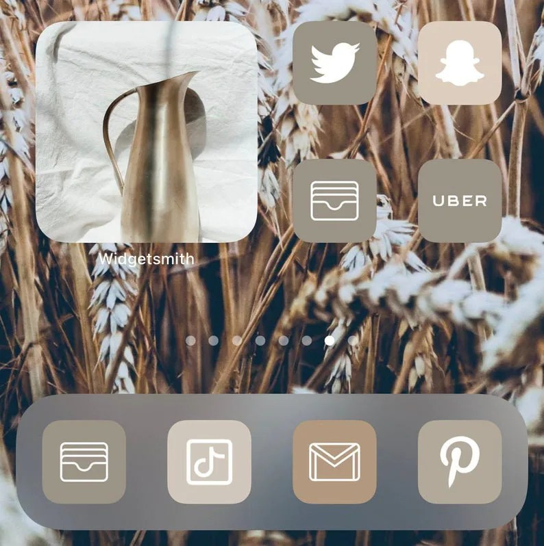 Give a personal touch to your iphone home screen! 350 Neutral Boho iOS 14 Icons aesthetic app icons ios14   Etsy