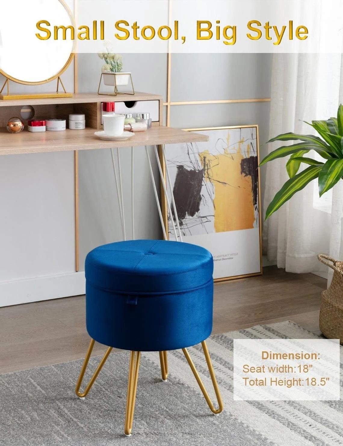 round storage ottoman etsy