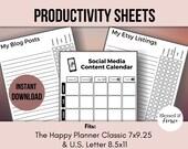 Social Media Content Calendar   Etsy Listing Checklist   Blog Post Checklist