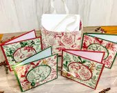 "3"" x 3"" Mini Christmas Cards with Envelope /Set of 6"