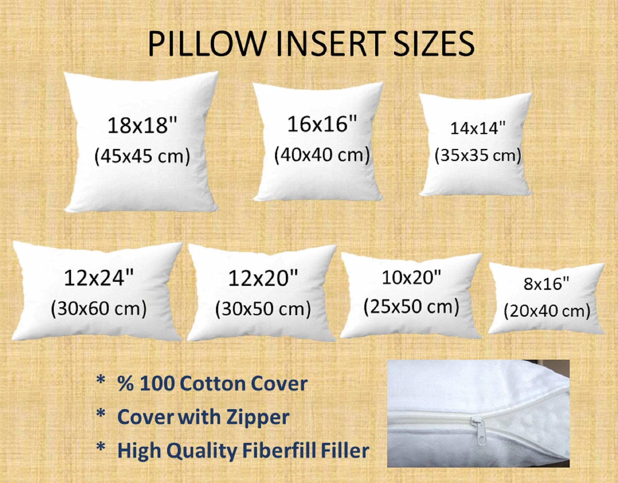 8x16 pillow insert etsy