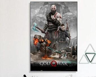 god of war poster etsy