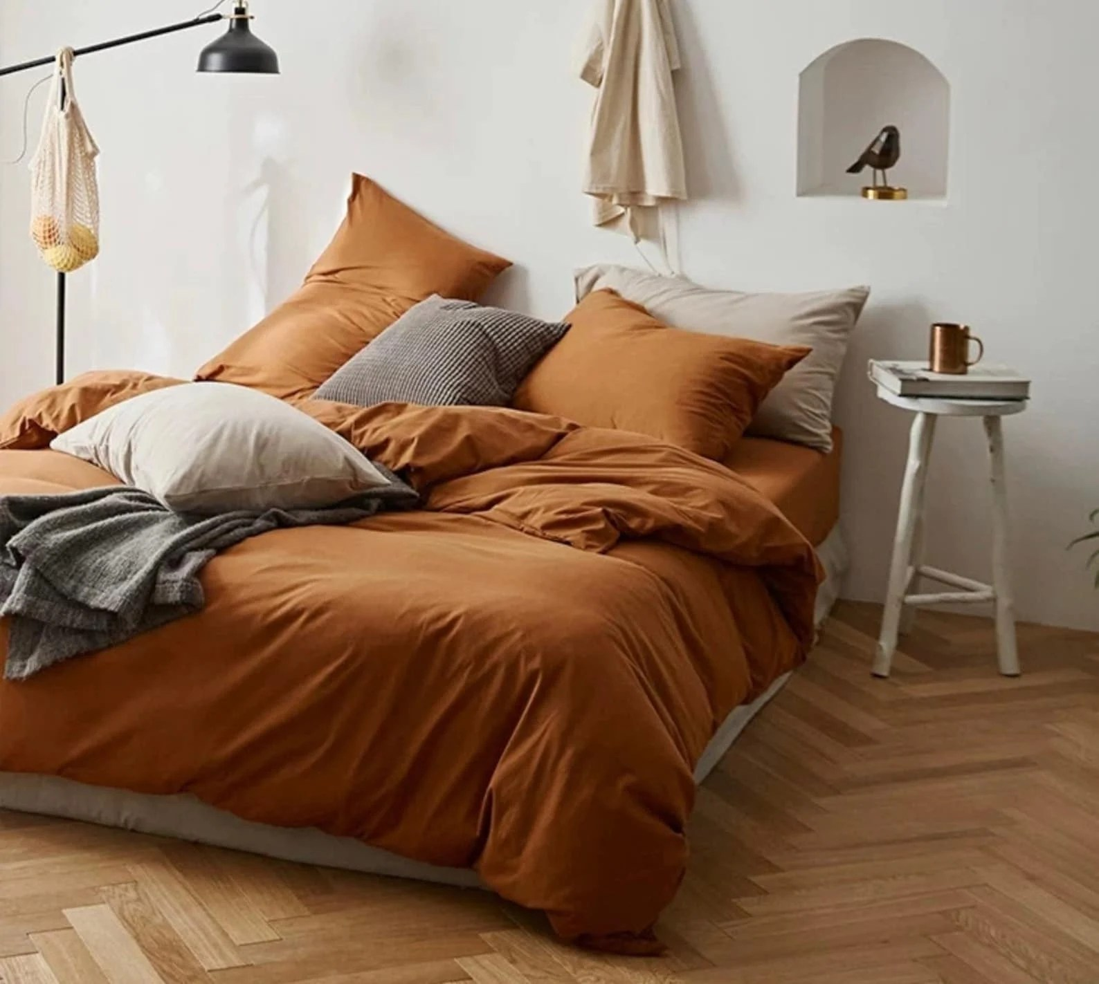 King Queen Bettwäsche Kürbis Orange Bettwäsche Set Queen King Twin Winter Bett ...