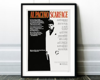 scarface poster etsy