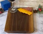 Live-edge 12x9x1 Hand crafted Walnut Charcuterie board