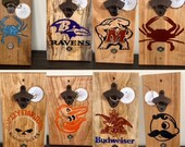 Rustic Wall-Mounted Bottle Openers With Magnet