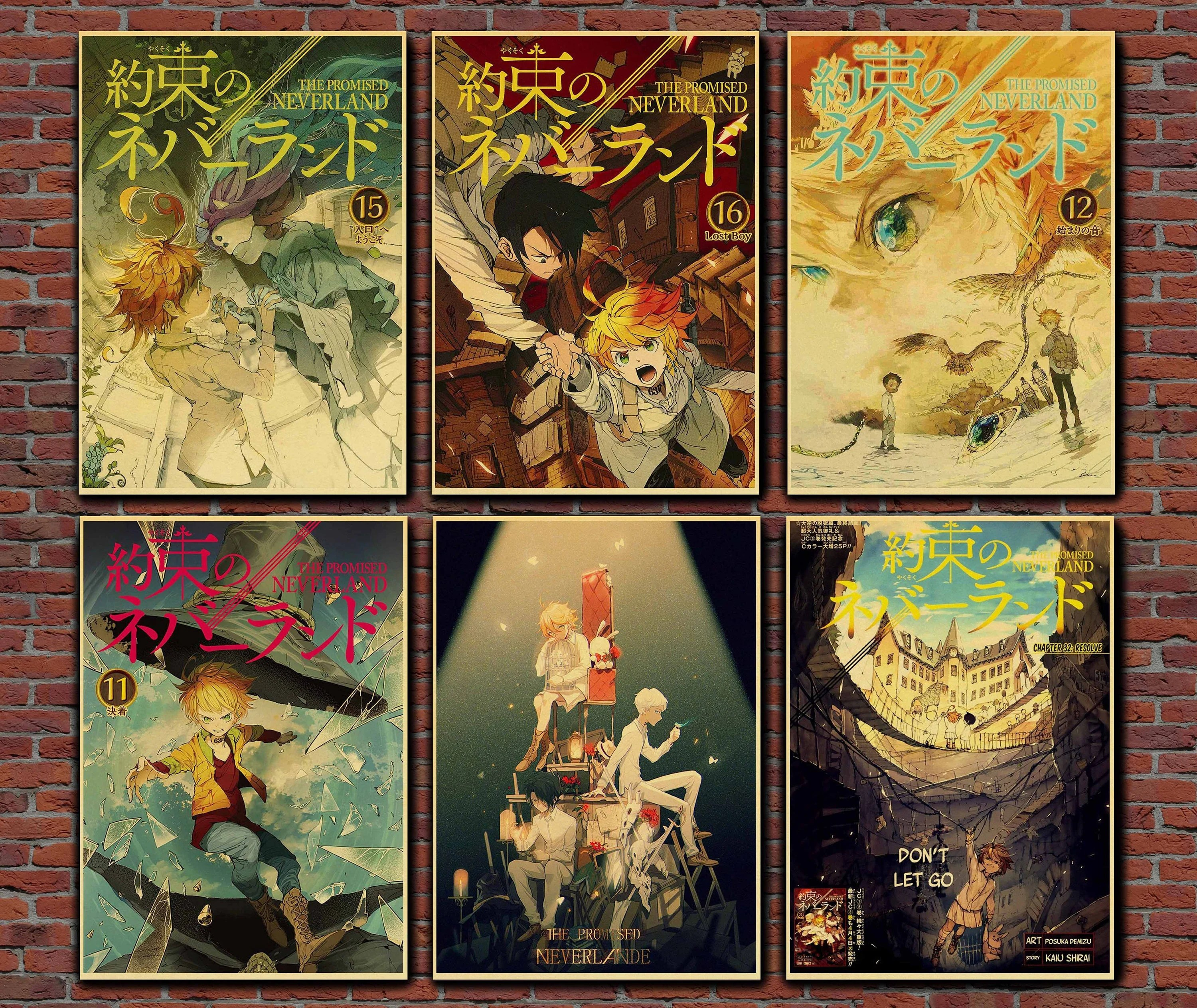 the promised neverland poster etsy