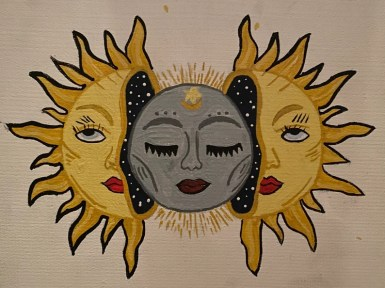 Sun and Moon Painting image 0