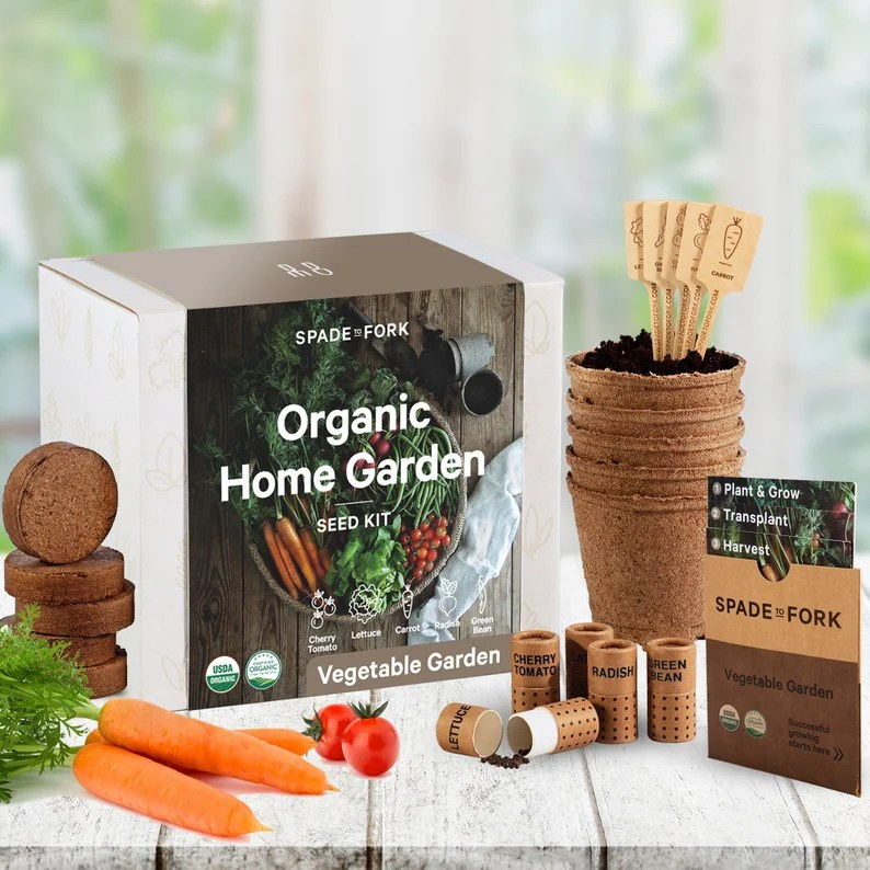Indoor Vegetable Garden Starter Kit  Certified USDA Organic image 0